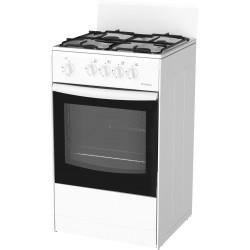 Плита газовая Darina S4 GM441 101 W White 4 конфорки газ, духовка 50л, 50x56x85, механ. управл.