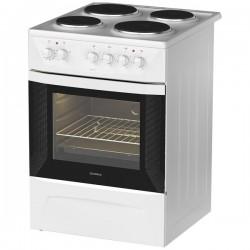Плита электрическая Darina 1D EM141 407 W White 4 конфорки, духовка 50л, 60x60x85, механ. управление