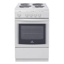 Плита электрическая De luxe 506004.04э White 4 конфорки, духовка 54л, 50x60x85, механ. управление