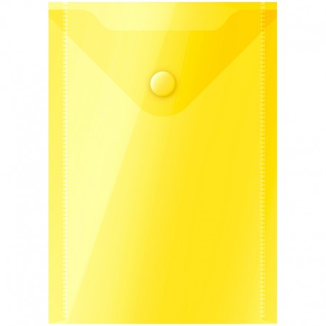 Папка-конверт на кнопке А6 Спейс 150мкм, желтая (281227)