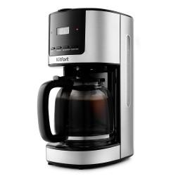 Кофеварка Kitfort КТ-735 Silver/black (900Вт,1.5л,капельная,тип кофе: молотый)