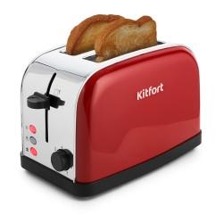 Тостер Kitfort КТ-2014-3 Red 850Вт, механическое управление