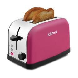 Тостер Kitfort КТ-2014-5 Pink 850Вт, механическое управление