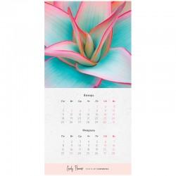 """Календарь настен. 2021г. перекид. на скрепке """"Flowers"""" Спейс (303656)"""