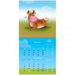 """Календарь настен. 2021г. перекид. на скрепке """"Символ года"""" Спейс (303654)"""