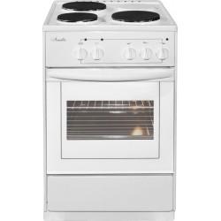 Плита электрическая Лысьва ЭП 301  Белый без крышки с термостатом 3 конфорки, духовка 57л, 50x60x85, механ. управление