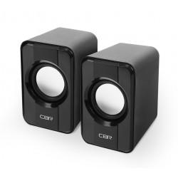 Актив.колонки 2.0 CBR CMS-336 3Вт, питание от USB, пластик, Black