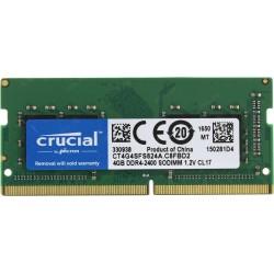 Модуль памяти SO-DDR4 4Гб 2400МГц Crucial (CT4G4SFS824A) CL17 1.2v