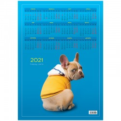 "Календарь настен. 2021г. СПЕЙС ""French bulldog"" А3, (303688)"