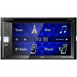 Автомагнитола JVC KW-V250BT 2DIN, 4x50Вт, MP3, FM, SD, USB, AUX, Bluetooth