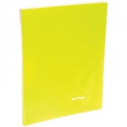 """Папка с боковым прижимом BERLINGO """"Neon"""", 17мм, 700мкм, неоновая желтая ACp 01803"""