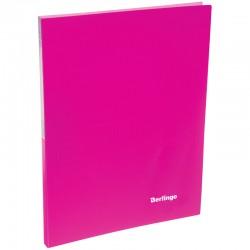 """Папка с боковым прижимом BERLINGO """"Neon"""", 17мм, 700мкм, неоновая  розовая ACp 01813"""