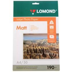 Бумага Lomond 190 г/м2, А4, матовая, двухсторонняя, 50л. (0102015)