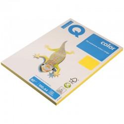 Бумага цветная А4 100л. IQ COLOR Интенс. CY39  канареечно-желт. (10869)