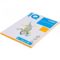 Бумага цветная А4 100л. IQ COLOR Неон NEOOR оранжевый (11040)
