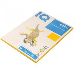 Бумага цветная А4 100л. IQ COLOR Интенс. SY40 солнечно-желт (14652)