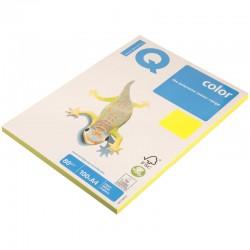 Бумага цветная А4 100л. IQ COLOR Неон NEOGB желтый (07453)