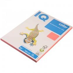 Бумага цветная А4 100л. IQ COLOR Неон NEOPI розовый (11033)