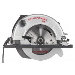 Пила дисковая Интерскол ДП-210/1900М 1900Вт, 5000об/мин, глубина пропила 75мм, размеры диска 210х30