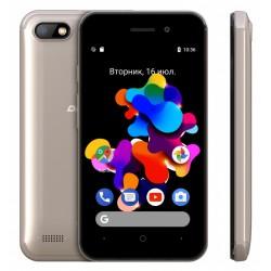 """Смартфон DIGMA HIT Q401 3G Золотистый 2sim/4""""/800*480/4*1.3ГГц/1Gb/8Gb/mSD/2Мп/And7/1600mAh"""