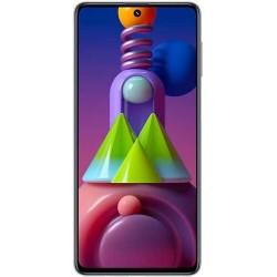 "Смартфон Samsung Galaxy M51 SM-M515F Белый 2sim/6.7""/2400*1080/6х1.8ГГц+2*2.2/6Gb/128Gb/mSD/64+12+5+5МП/NFC/And10/7000mAh"