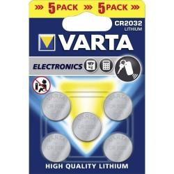 Батарейка CR2032 VARTA упак 5 шт./3В. литиевая