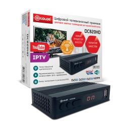 Цифровая приставка DVB-T2 D-Color DC820HD/HDMI 1080p/RCA/TimeShift/ТВгид/запись/дисплей