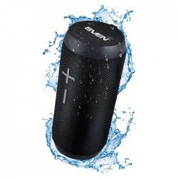 Портативная колонка Sven PS-210 2*6Вт, Bluetooth, питание от батарей, FM, USB, mSD, IPx6, Черный