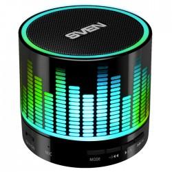 Портативная колонка Sven PS-47 3Вт, Bluetooth, питание от батарей, FM, USB, microSD, Черный