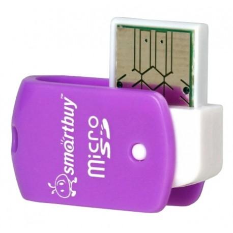 Картридер внешний Smartbuy SBR-706-F фиолетовый для microSD