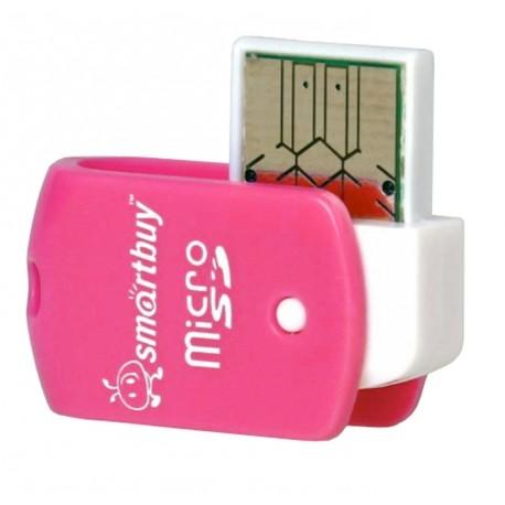 Картридер внешний Smartbuy SBR-706-P розовый для microSD