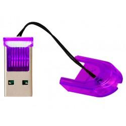 Картридер внешний Smartbuy SBR-710-F фиолетовый для microSD