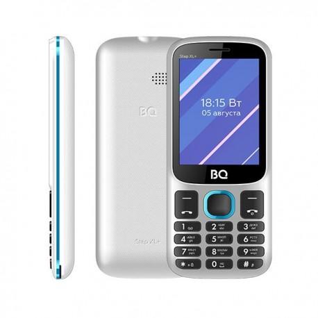 """Сотовый телефон BQ BQ-2820 Step XL+ белый+синий (2sim/2.8""""/320*240/32Mb/microSD/Bt/1000мАч)"""