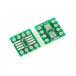 Плата макетная SOP8/SSOP8/TSSOP8/1.27mm 0.65mm