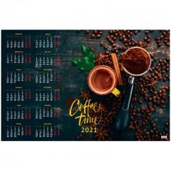 """Календарь настен. 2021г. СПЕЙС """"Кофе"""" А1, (303670)"""