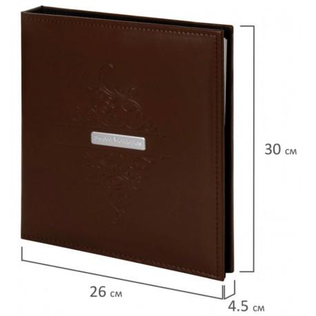 """Фотоальбом BRAUBERG """"Beta"""" 20 магнитных листов, 23*28см, коричневый, 391180"""