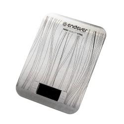 Кухонные весы Endever Chief-538 Silver электронные, сталь, макс. 5кг, точность 1г, авто вкл/выкл