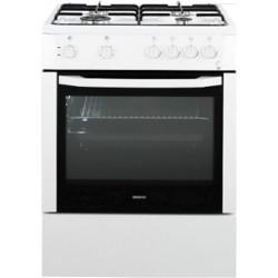 Плита комбинированная Beko FFSS 62010 GW White 4 конфорки газ, духовка электрич. 71л, 60x60x85см, механ. управл.