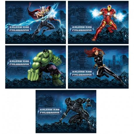 """Альбом для рисования 20л. """"Marvel. Мстители"""" Хатбер (20А4В)"""