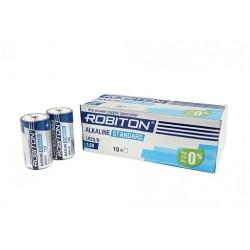 Батарейки D(LR20) ROBITON Standart упак 10 шт./1,5В. щелочные