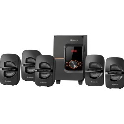Актив.колонки 5.1 Defender Cinema 52  52Вт, питание от сети, BT,FM,MP3,SD,USB,LED,RC,MDF, Black