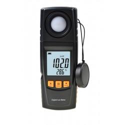 Люксметр S-Line GM1020, 200000лк(3%), USB, термометр, поворотный датчик, 2*AAA