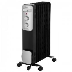 Масляный радиатор Midea MOH-3031 Black 2000Вт, 20кв.м, 9 секций, регул. темп., термостат