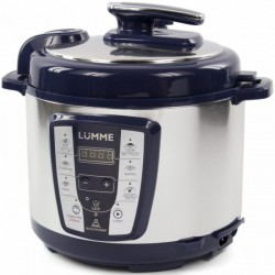 Мультиварка-скороварка LUMME LU-1450 синий сапфир (900 Вт,5 л,металл/пластик,мак.время таймера 24 ч)