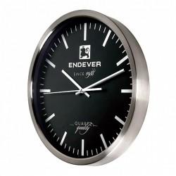 Часы настенные RealTime 110, серебристо-черный, стальной корпус
