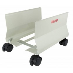 Подставка под системный блок BURO BU-CS1AL светло-серый металл, на колёсиках, регу-ка по ширине