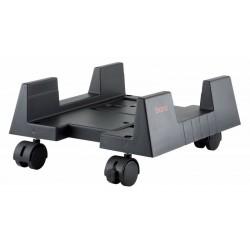 Подставка под системный блок BURO BU-CS3BL Black пластмассовая, на колёсиках, регу-ка по ширине