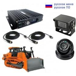 Ком-т видеонабл-я 2 камеры NSCAR ST201 SD: 4х канал. рег-р, 2 HD камеры (AJ104, AC104), кабели 5м, 15м.