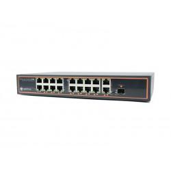 Коммутатор Optimus UMG1-18/16P v.2 16POE +2 Uplink, из них: 16POE порта 10/100Mbps RJ-45 с Auto-MDIX