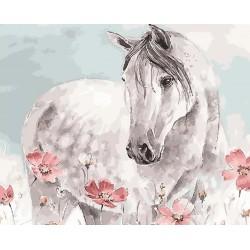 "Картина по номерам Color KIT ""Белая лошадь"" 40*50см (GX27355)"